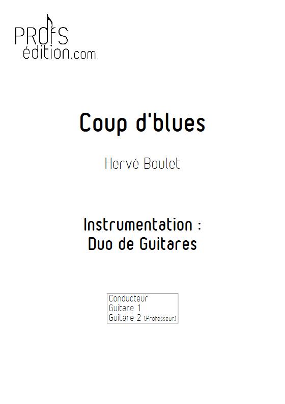 Coup d'Blues - Duo de Guitares - BOULET H. - front page