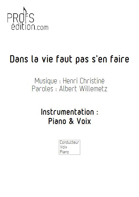 Dans la vie faut pas s'en faire - Piano & Voix - CHRISTINE H. - front page