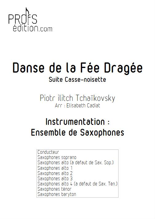 Danse de la Fée Dragée (Casse Noisette) - Ensemble de Saxophones - TCHAIKOVSKY P. I. - front page