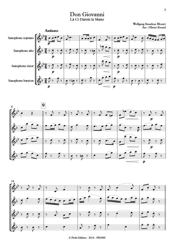 La Ci darem La Mano (Don Giovanni) - Quatuor de Saxophones - MOZART W. A. - app.scorescoreTitle