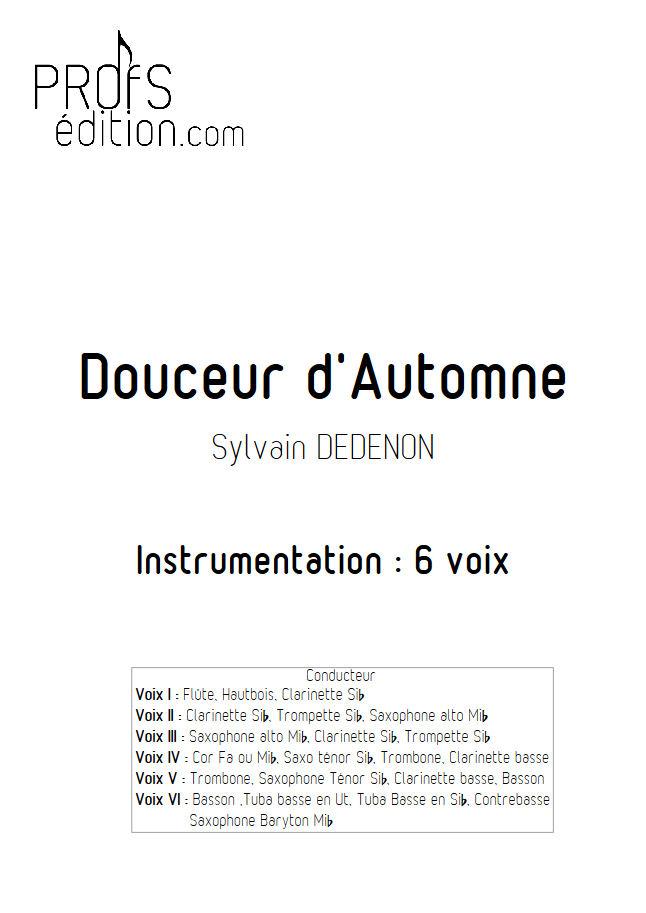 Douceur d'Automne - Ensemble Géométrie Variable - DEDENON S. - front page