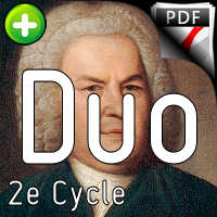 Invention BWV 782 - Duo - BACH J. S.