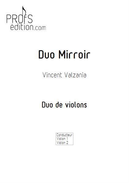 Duo Miroir - Duo de violons - VALZANIA V. - front page