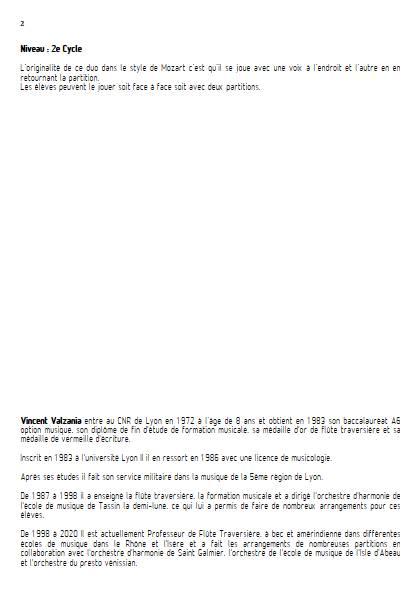 Duo Miroir - Duo de violons - VALZANIA V. - Educationnal sheet