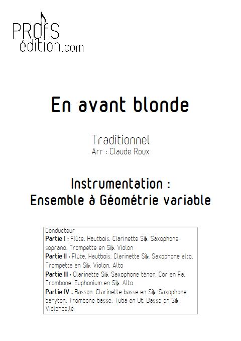 En Avant Blonde - Ensemble à Géométrie Variable - TRADITIONNEL - front page
