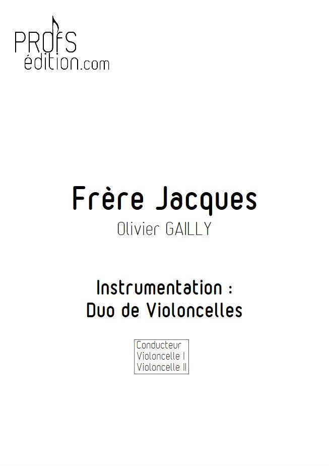 Frère Jacques - Duo Violoncelles - TRADITIONNEL - front page