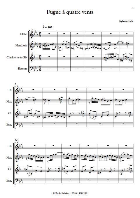 fugue 4 vents - Quatuor à vents - TALLE S. - app.scorescoreTitle