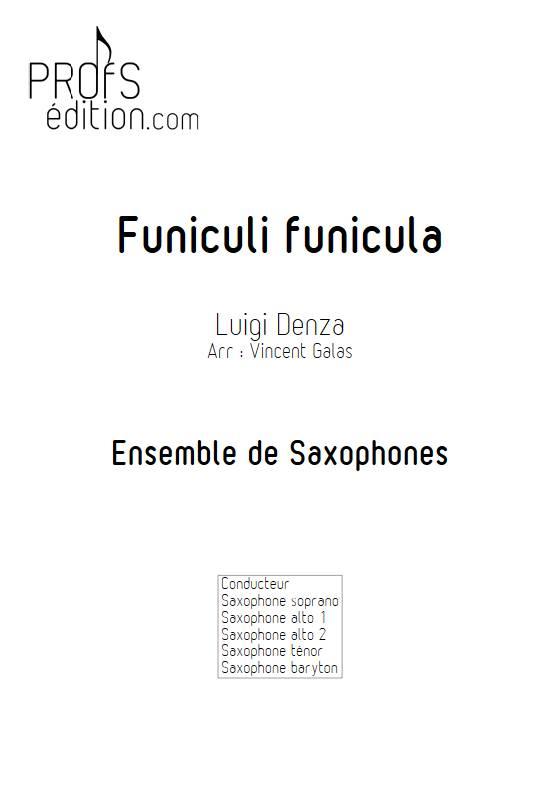 Funiculi funicula - Ensemble de Saxophones - DENZA L. - front page