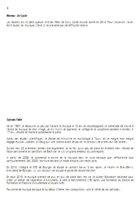 Galant - Quatuor à Cordes - TALLE S. - Educationnal sheet