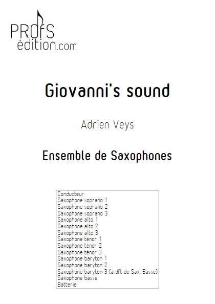 Giovanni's sound - Ensemble de Saxophones - VEYS A. - front page