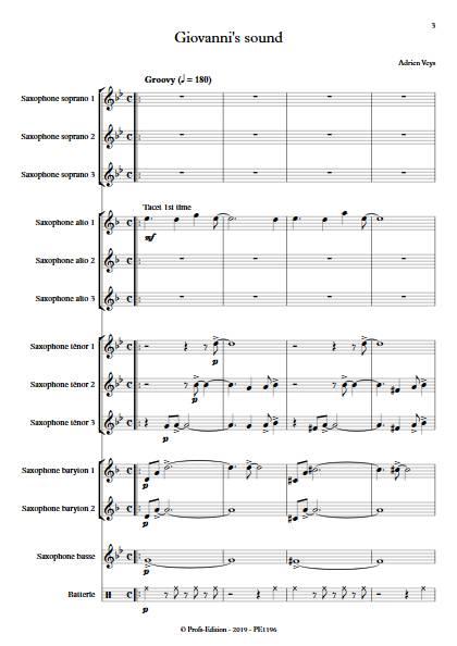Giovanni's sound - Ensemble de Saxophones - VEYS A. - app.scorescoreTitle
