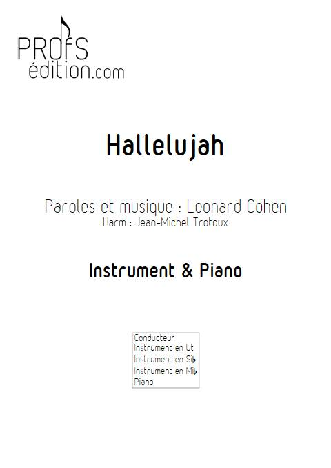 Hallelujah - Instrument & Piano - COHEN L. - front page