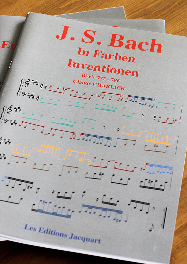 Bach In Farben Inventionen – BWV 772-786 - Analyse - CHARLIER C. - front page