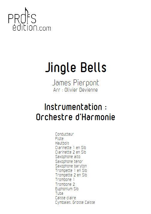 Jingle Bells - Orchestre d'Harmonie - PIERPONT J. - front page