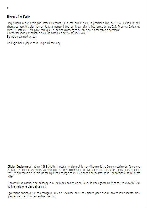 Jingle Bells - Orchestre d'Harmonie - PIERPONT J. - Educationnal sheet