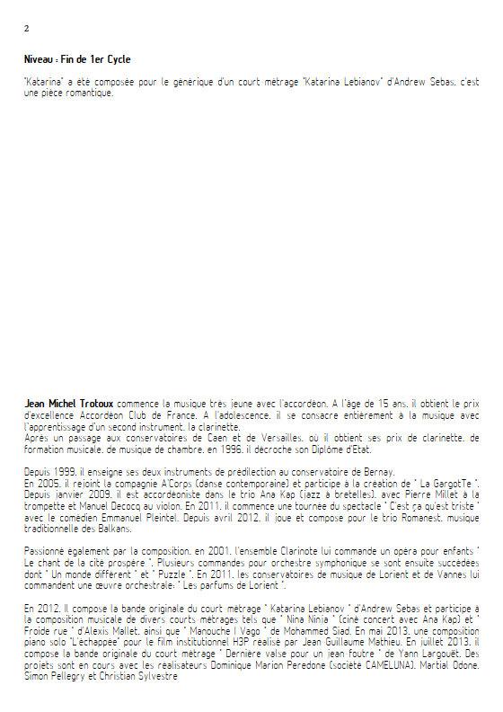 Katarina - Trio 2 Altos et Piano - TROTOUX J. M. - Educationnal sheet