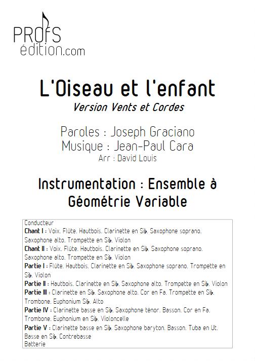 L'Oiseau et l'enfant -Ensemble à Géométrie Variable - CARA J.P. - front page