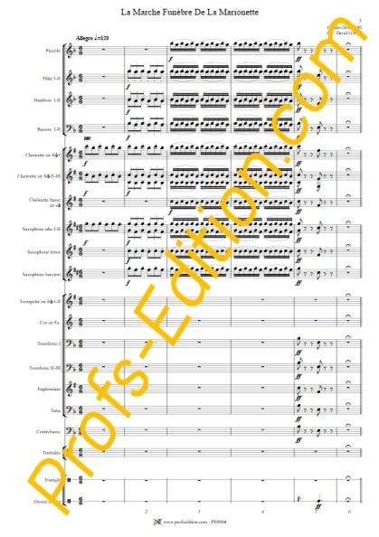 La marche funèbre de la Marionette - Orchestre Harmonie - GOUNOD C. - front page