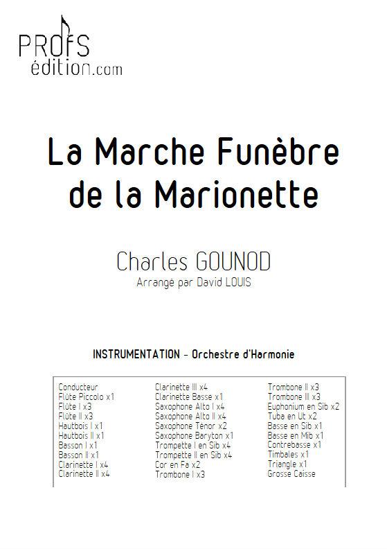 La marche funèbre de la Marionette - Orchestre Harmonie - GOUNOD C. - Educationnal sheet