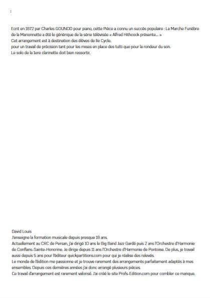 La marche funèbre de la Marionette - Orchestre Harmonie - GOUNOD C. - app.scorescoreTitle