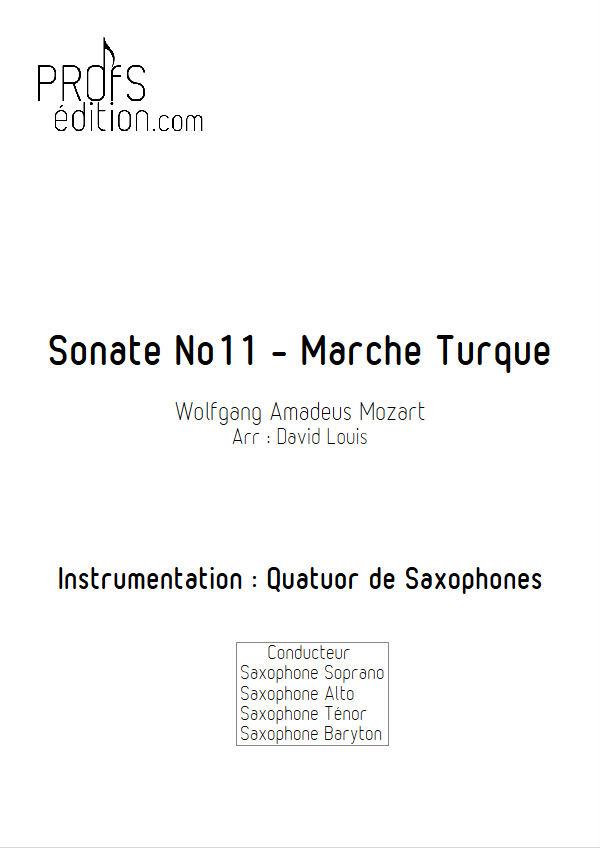 Marche Turque - Quatuor Saxophones - MOZART W. A. - front page
