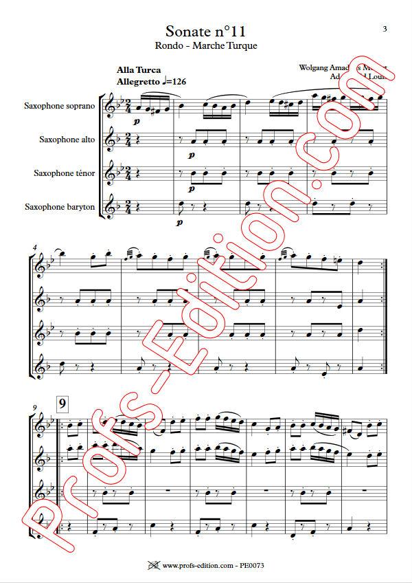 Marche Turque - Quatuor Saxophones - MOZART W. A. - app.scorescoreTitle