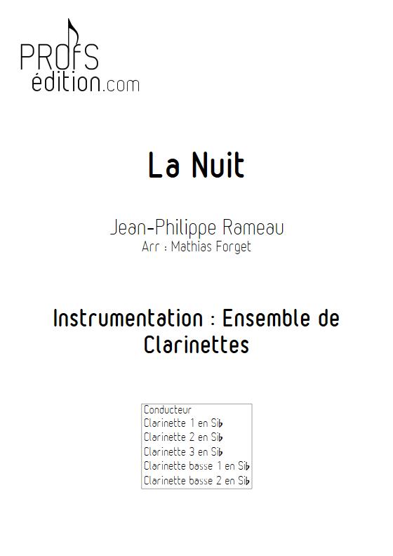 La Nuit - Ensemble de Clarinettes - RAMEAU J. P. - front page