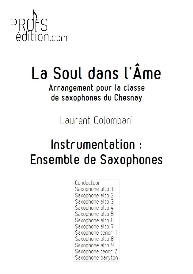 La soul dans l'âme - Ensemble de Saxophones - COLOMBANI L. - front page