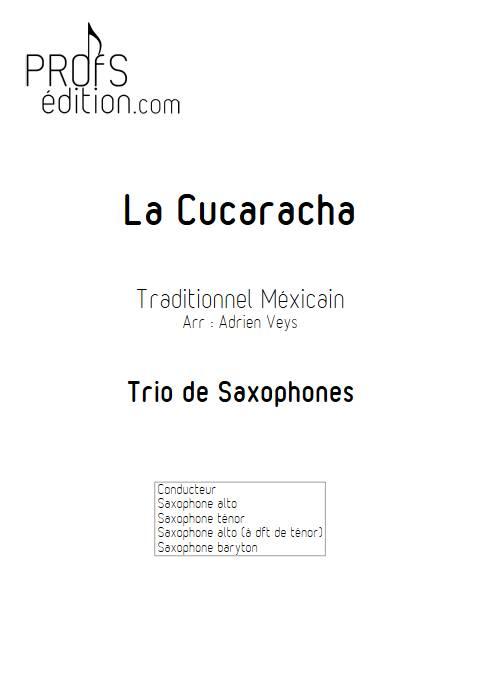 La Cucaracha - Trio de Saxophones - TRADITIONNEL MEXICAIN - front page