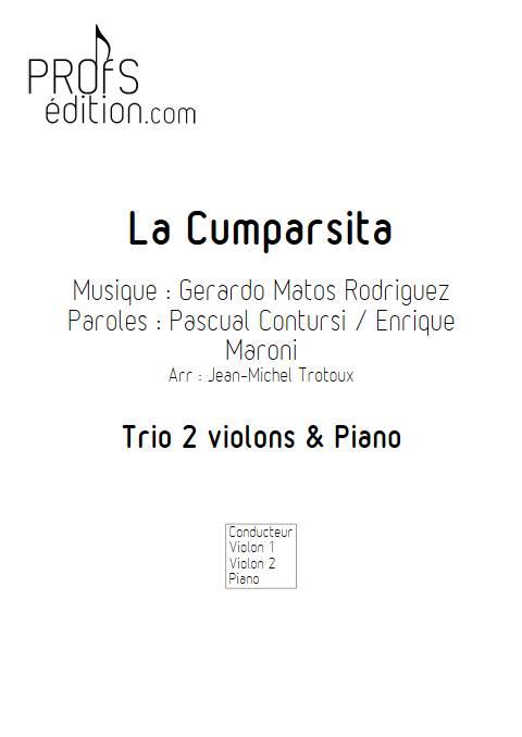 La Cumparsita - Trio 2 violons & Piano - RODRIGUEZ G. M. - front page