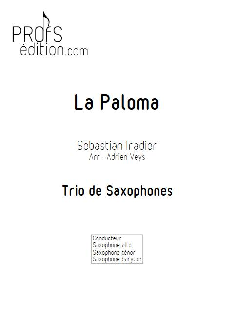 La Paloma - Trio Saxophones - IRADIER s. - front page