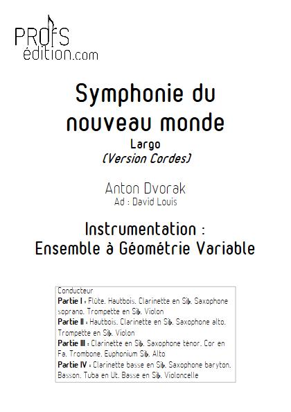 Largo Symphonie du Nouveau Monde - Ensemble Variable - DVORAK A. - front page