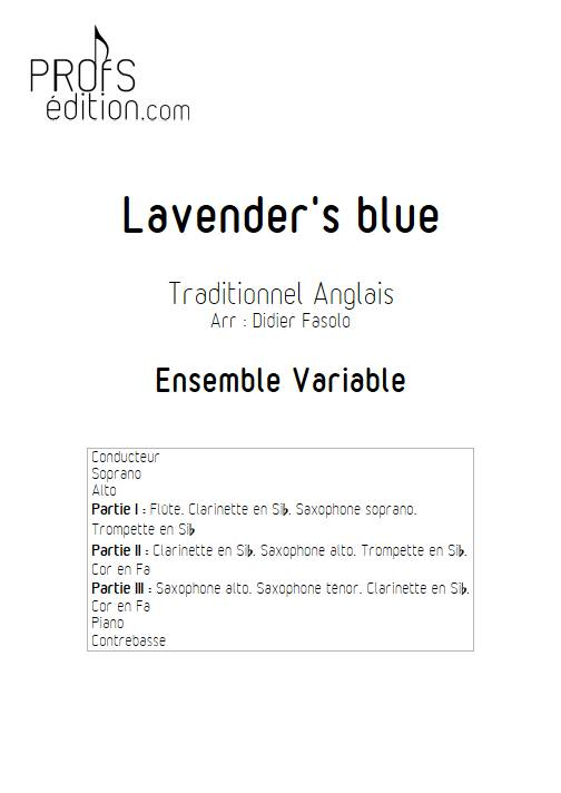 Lavender's blue - Ensemble Variable - TRADITIONNEL ANGLAIS - front page