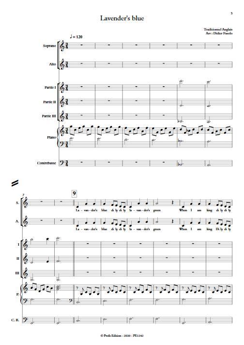 Lavender's blue - Ensemble Variable - TRADITIONNEL ANGLAIS - app.scorescoreTitle