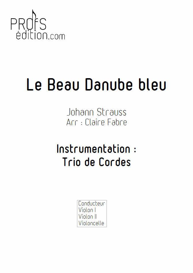 Le Beau Danube Bleu - Trio Violons Violoncelle - STRAUSS J. - front page
