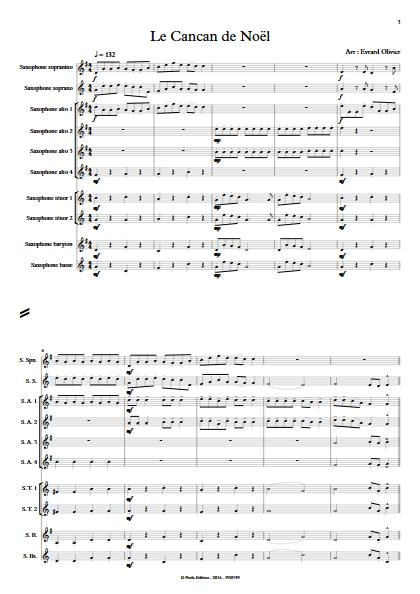Le cancan de Noël - Ensemble de Saxophones - EVRARD O. - app.scorescoreTitle