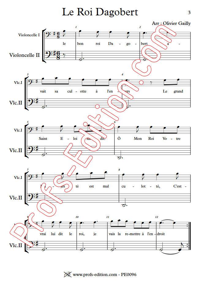 Le Roi Dagobert - Duo Violoncelles - TRADITIONNEL - app.scorescoreTitle