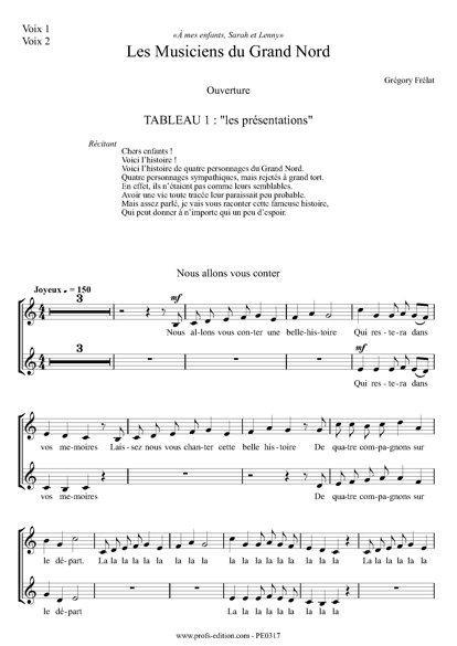 Les musiciens du Grand Nord - Chœur seul- FRELAT G. - front page
