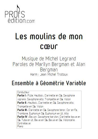 Les moulins de mon coeur - Ensemble Variable - LEGRAND M. - front page