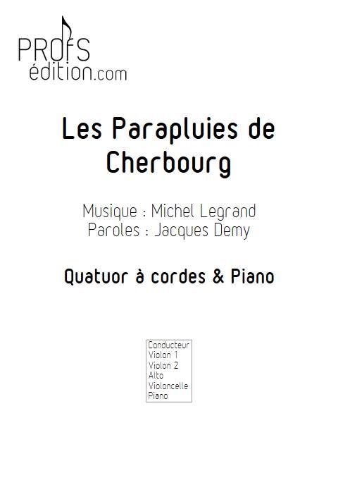 les parapluies de Cherbourg - Quintette à Cordes - LEGRAND M. - front page