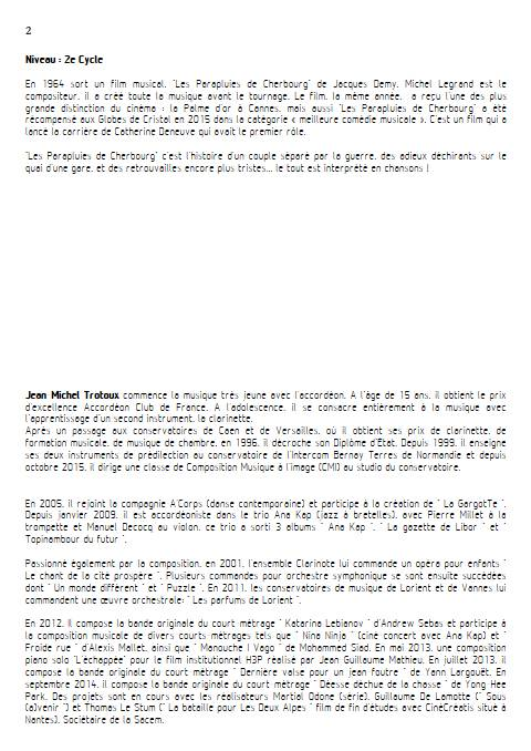 les parapluies de Cherbourg - Quintette à Cordes - LEGRAND M. - Educationnal sheet