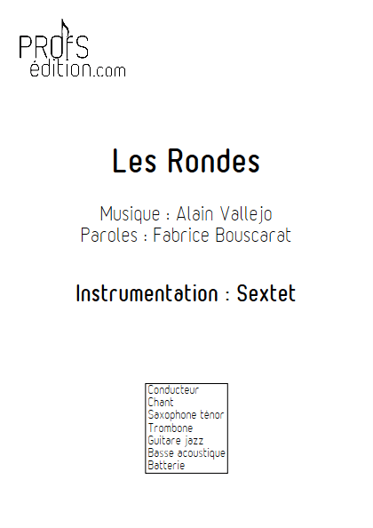 Les Rondes - Sextet Jazz - VALLEJO A. - front page