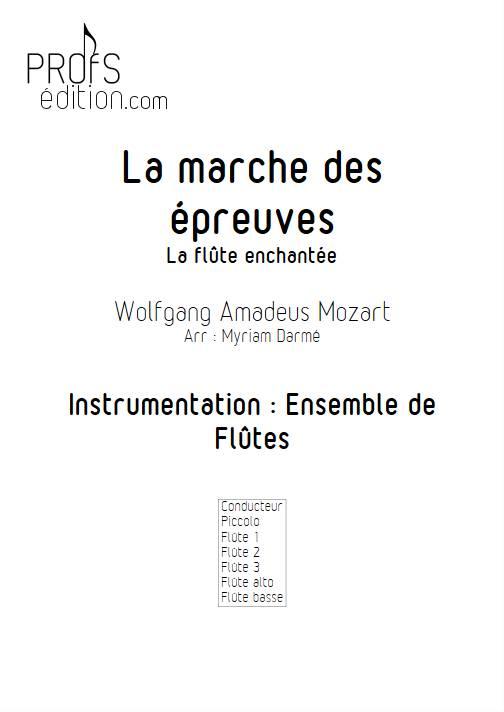 Marche des épreuves - Ensemble de Flûtes - MOZART W.A. - front page