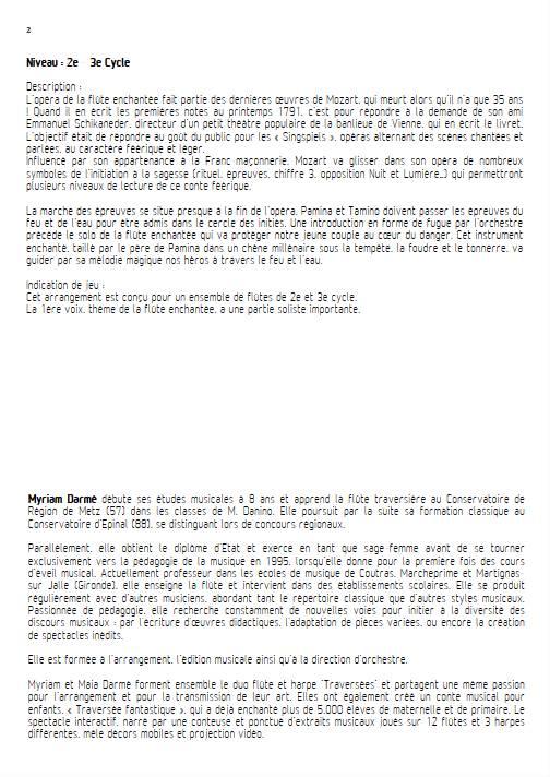 Marche des épreuves - Ensemble de Flûtes - MOZART W.A. - Educationnal sheet