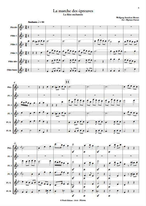 Marche des épreuves - Ensemble de Flûtes - MOZART W.A. - app.scorescoreTitle