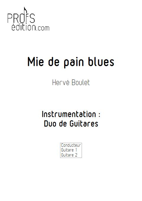 Mie de Pain Blues - Duo de Guitares - BOULET H. - front page