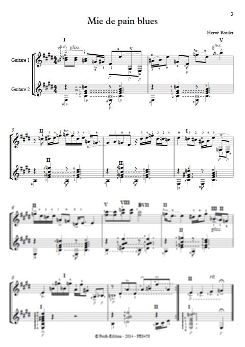 Mie de Pain Blues - Duo de Guitares - BOULET H. - app.scorescoreTitle