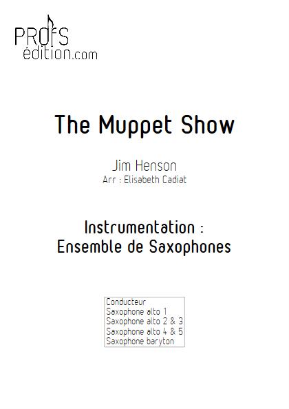 The Muppet Show - Ensemble de Saxophones - HENSON J. - front page