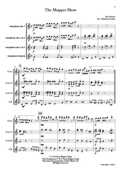 The Muppet Show - Ensemble de Saxophones - HENSON J. - app.scorescoreTitle