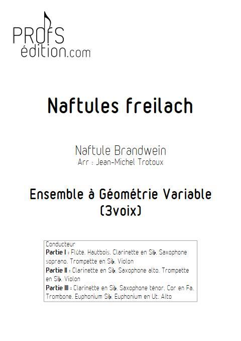 Naftules Freilach - Ensemble Variable - TRADITIONNEL KLEZMER - front page